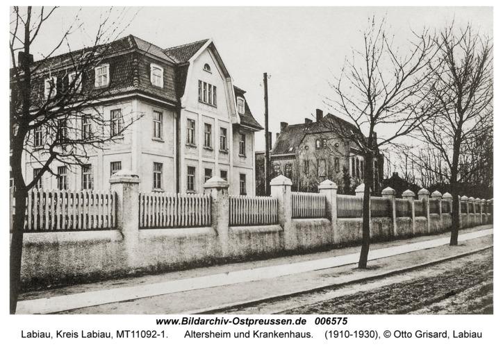 Labiau, Altersheim und Krankenhaus