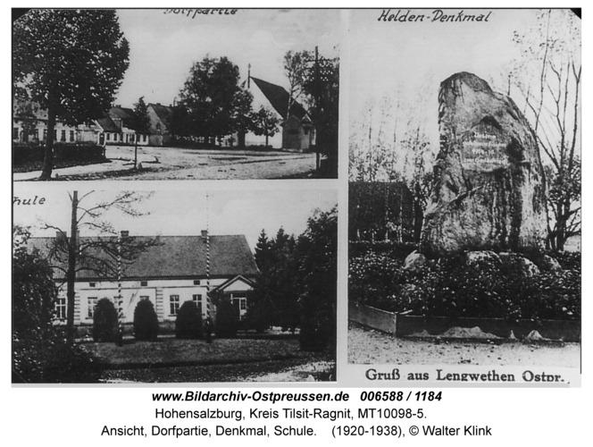 Hohensalzburg, Ansicht, Dorfpartie, Denkmal, Schule