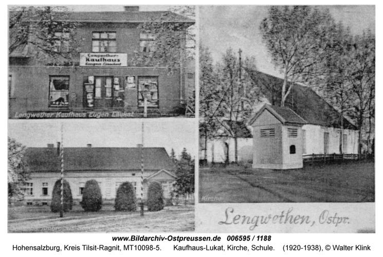 Hohensalzburg, Kaufhaus-Lukat, Kirche, Schule