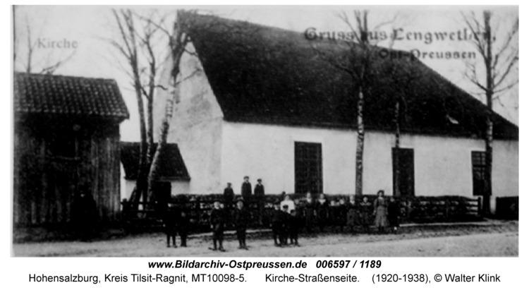 Hohensalzburg, Kirche-Straßenseite