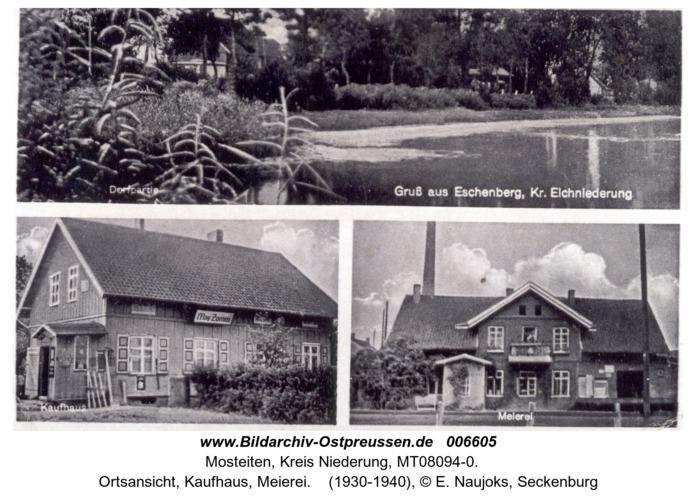 Eschenberg, Ortsansicht, Kaufhaus, Meierei