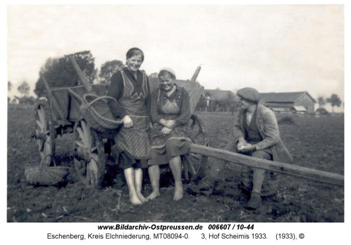 Eschenberg, 3, Hof Scheimis 1933