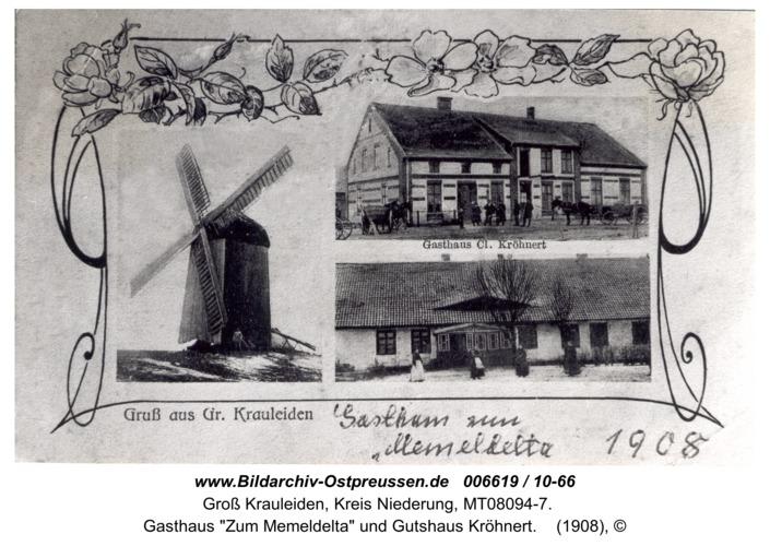 """Großheidenstein, Gasthaus """"Zum Memeldelta"""" und Gutshaus Kröhnert"""