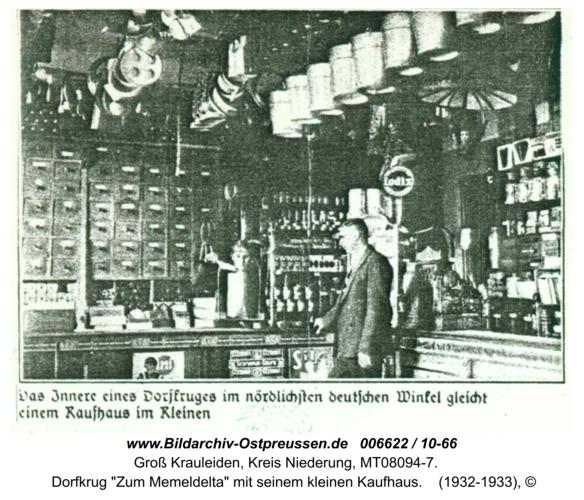 """Großheidenstein,  Dorfkrug """"Zum Memeldelta"""" mit seinem kleinen Kaufhaus"""