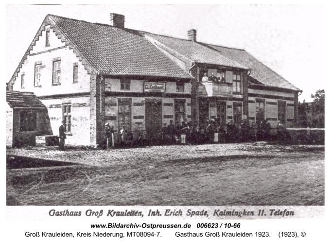 Großheidenstein,  Gasthaus Groß Krauleiden 1923