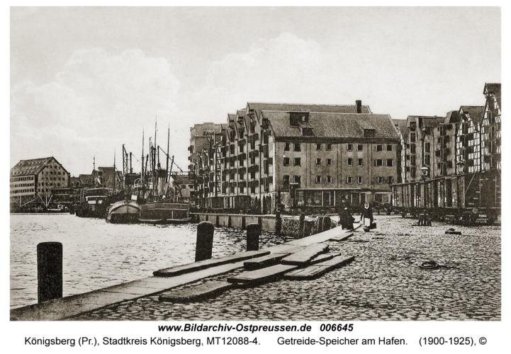 Königsberg, Getreide-Speicher am Hafen