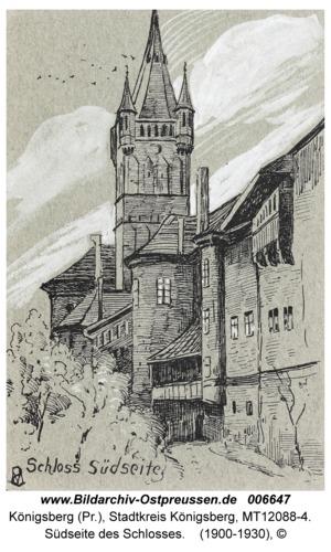 Königsberg, Südseite des Schlosses