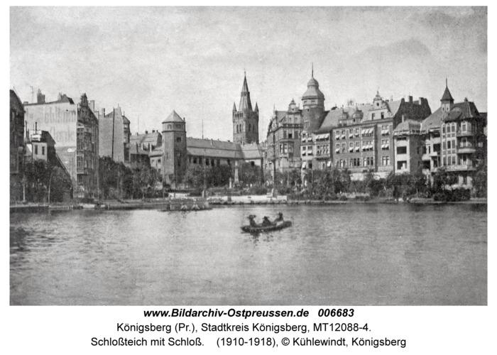 Königsberg, Schloßteich mit Schloß