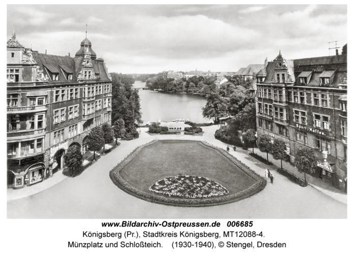 Königsberg, Münzplatz und Schloßteich
