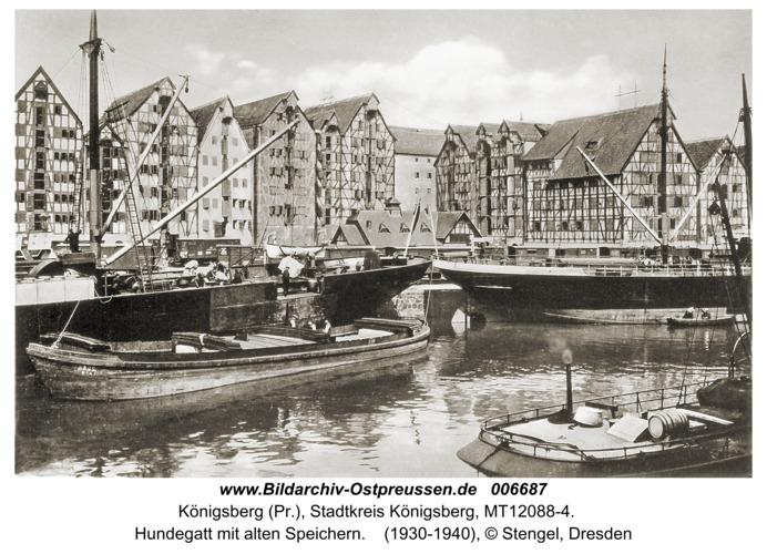 Königsberg, Hundegatt mit alten Speichern