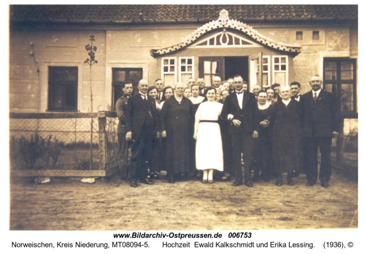 Norweischen, Hochzeit  Ewald Kalkschmidt und Erika Lessing