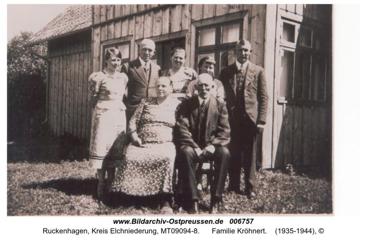 Ruckenhagen, Familie Kröhnert