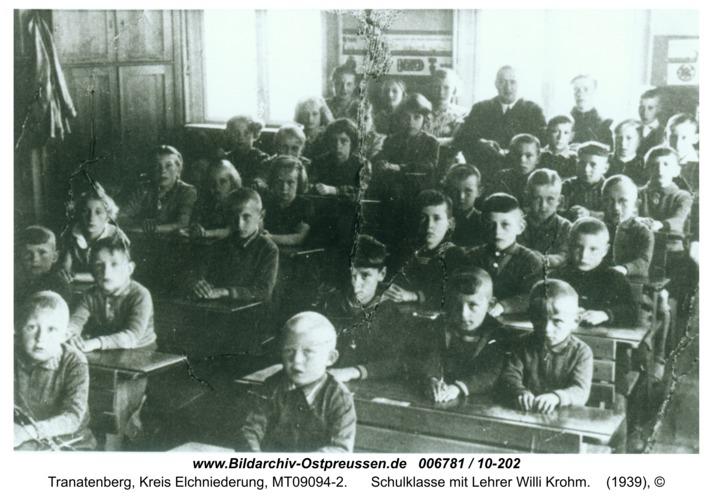 Tranatenberg, Schulklasse mit Lehrer Willi Krohm