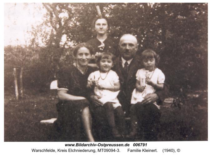 Warschfelde, Familie Kleinert
