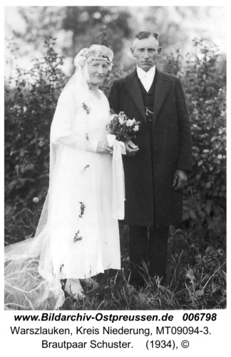 Warschfelde, Brautpaar Schuster