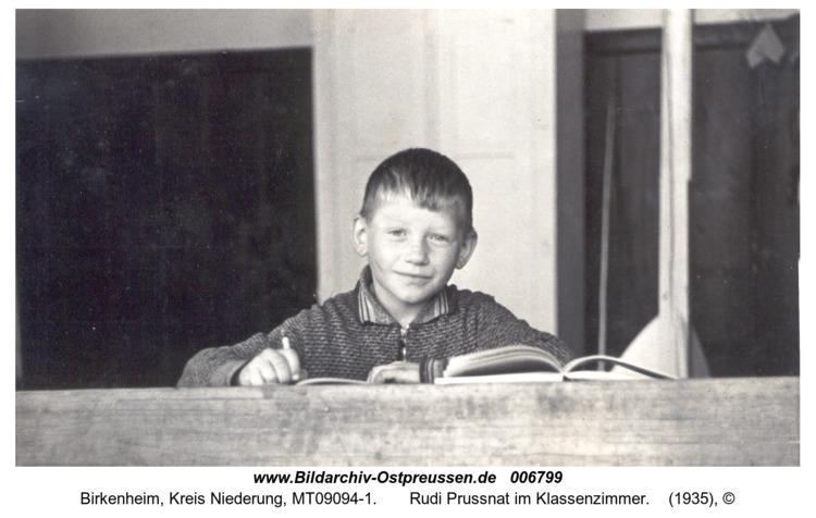 Birkenheim,  Rudi Prussnat im Klassenzimmer
