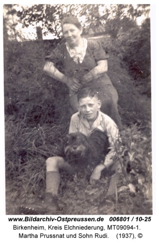 Birkenheim, Martha Prussnat und Sohn Rudi