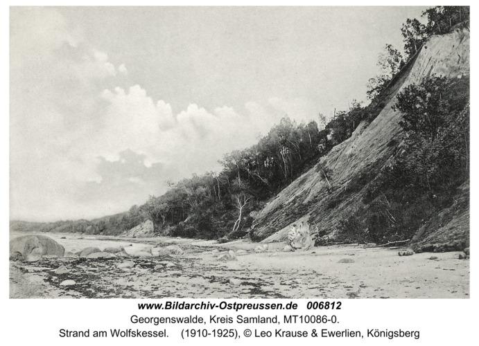 Georgenswalde, Strand am Wolfskessel