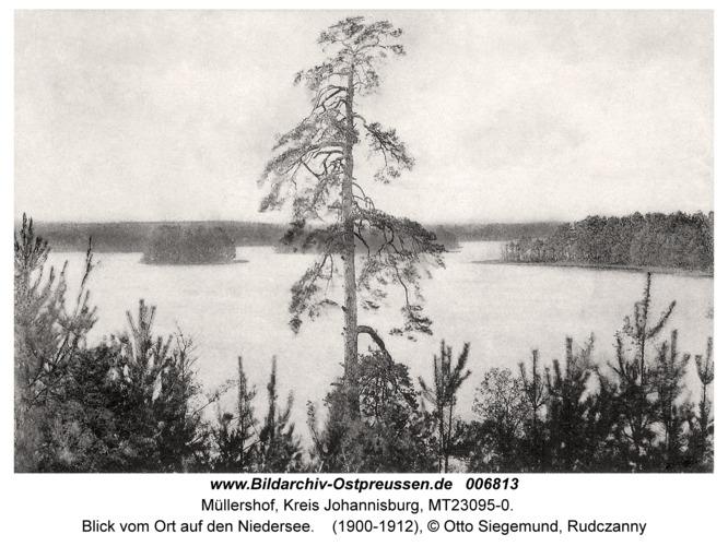 Müllershof (fr. Kowallik), Blick vom Ort auf den Niedersee