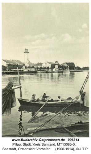 Pillau, Seestadt, Ortsansicht Vorhafen