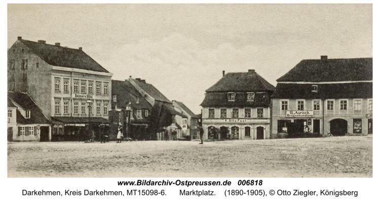 Angerapp (fr. Darkehmen), Marktplatz