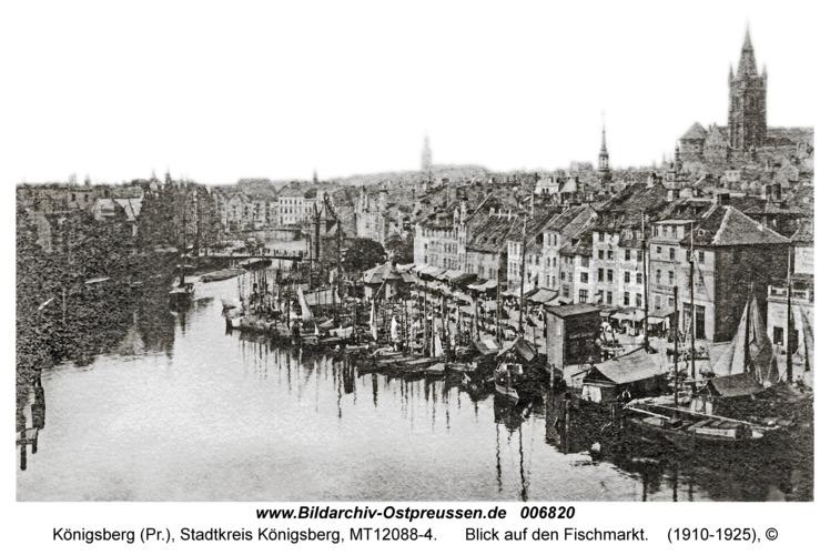 Königsberg, Blick auf den Fischmarkt