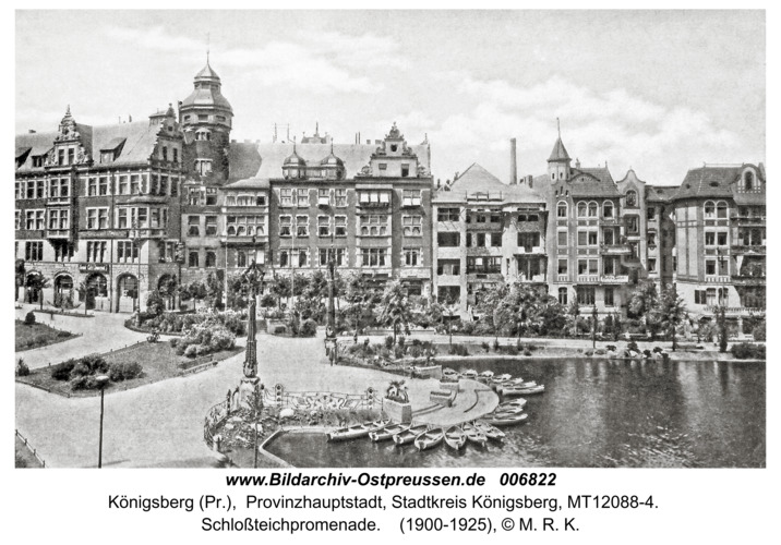Königsberg, Schloßteichpromenade