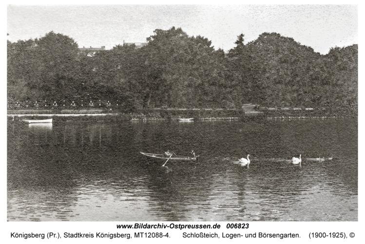 Königsberg, Schloßteich, Logen- und Börsengarten