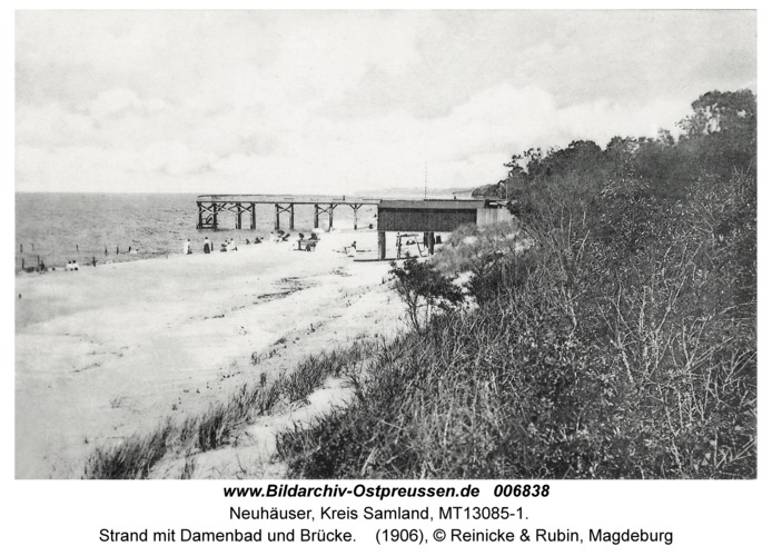 Neuhäuser, Strand mit Damenbad und Seesteg
