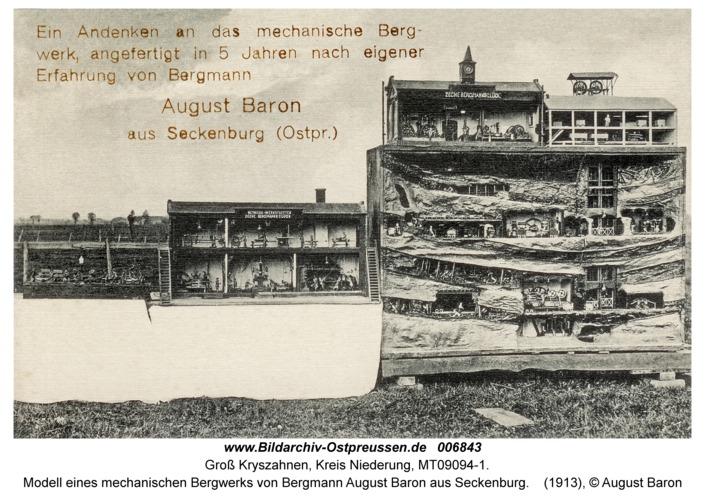 Seckenburg, Modell eines mechanischen Bergwerks von Bergmann August Baron aus Seckenburg