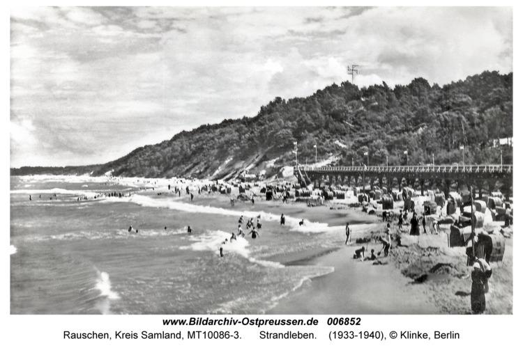 Rauschen, Strandleben