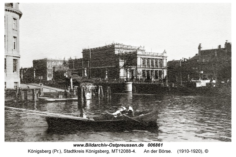 Königsberg, An der Börse