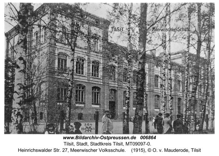 Tilsit, Heinrichswalder Str. 27, Meerwischer Volksschule