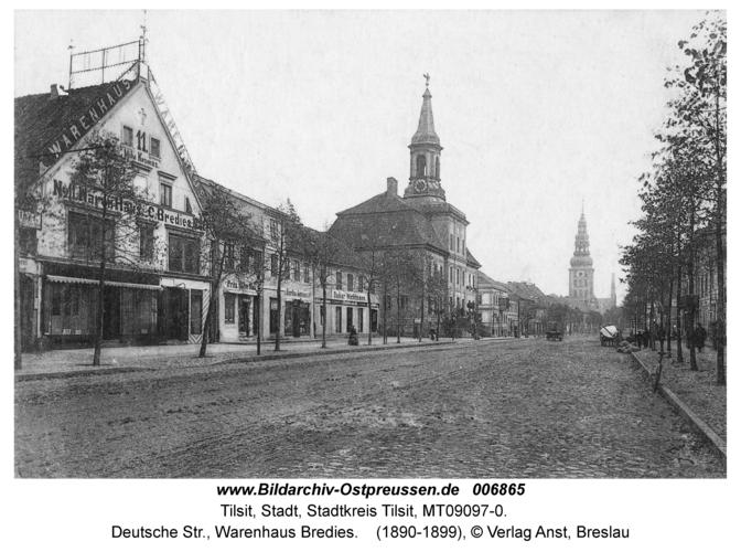Tilsit, Deutsche Str., Warenhaus Bredies