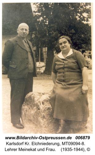 Karlsdorf, Lehrer Meinekat und Frau