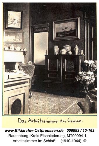 Rautenburg, Arbeitszimmer im Schloß