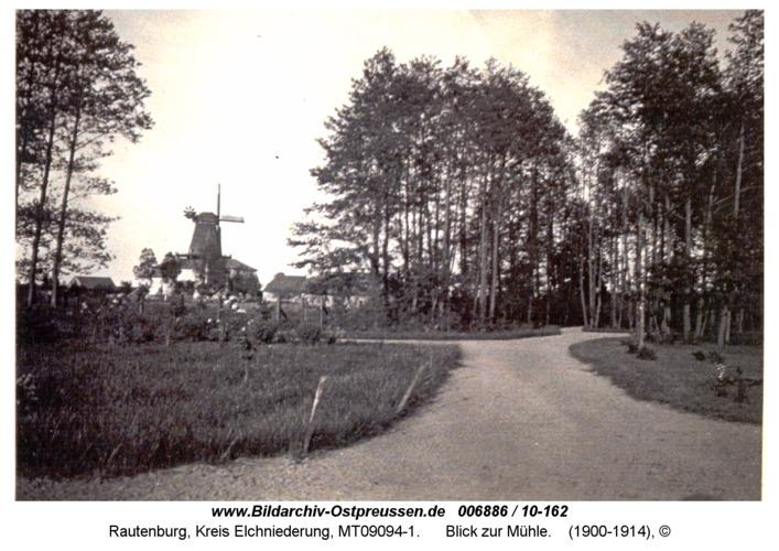 Rautenburg, Blick zur Mühle