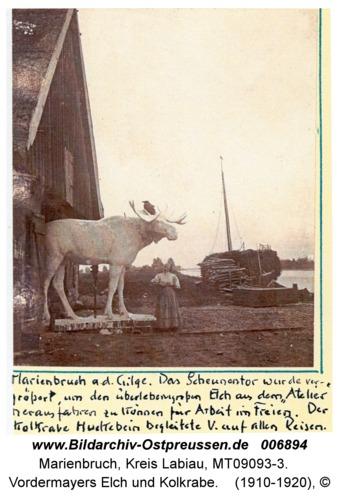 Marienbruch a.d.Gilge, Vordermayers Elch und Kolkrabe