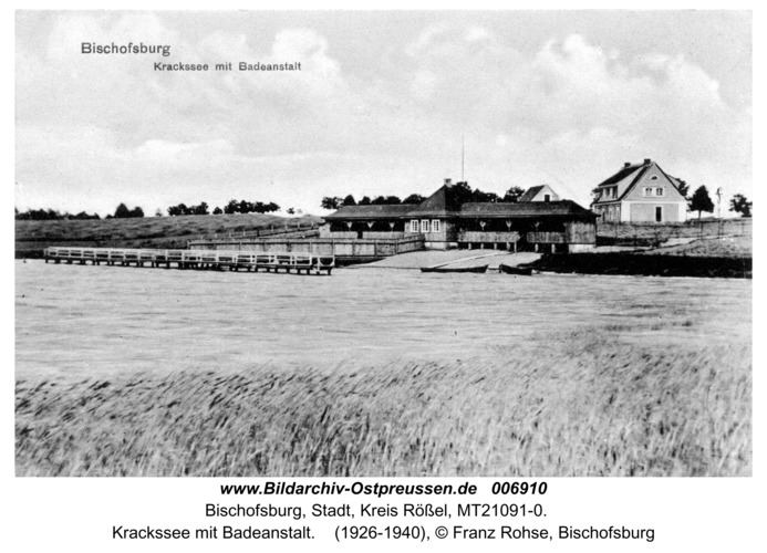 Bischofsburg, Krackssee mit Badeanstalt
