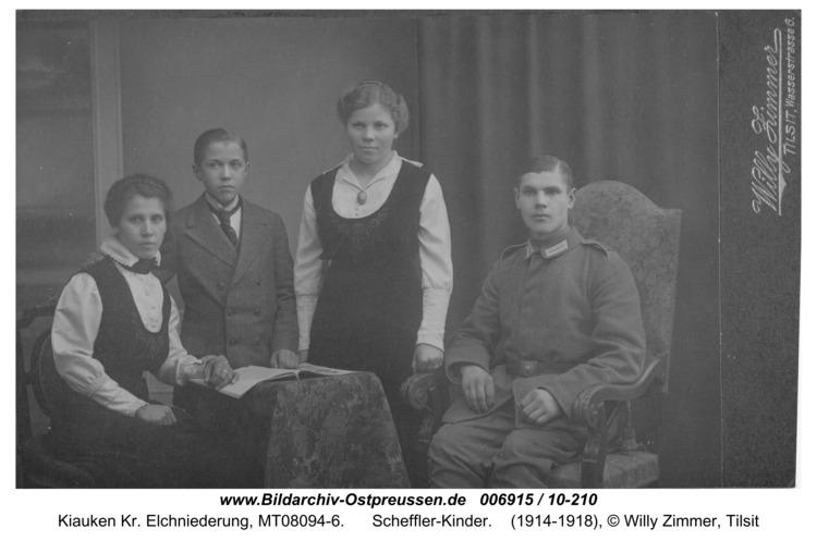 Kiauken Kr. Elchniederung, Scheffler-Kinder