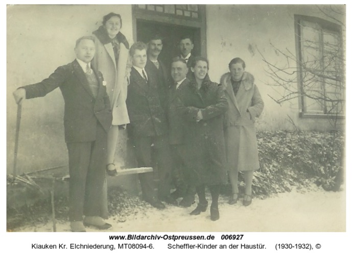 Wartenfeld, Scheffler-Kinder an der Haustür