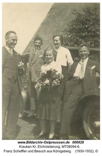 Wartenfeld, Franz Scheffler und Besuch aus Königsberg