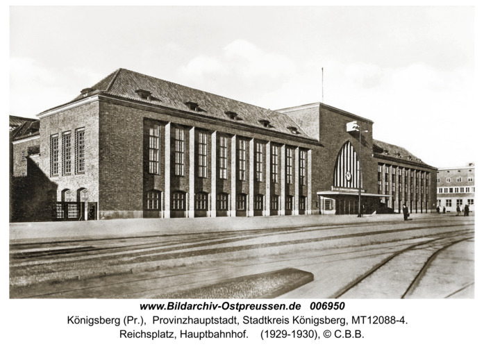 Königsberg, Hauptbahnhof