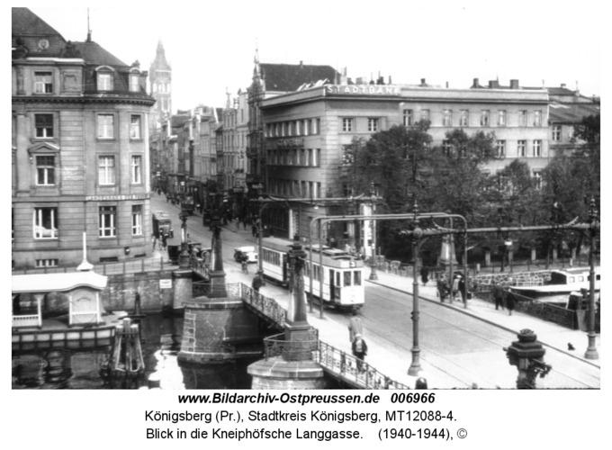 Königsberg, Blick in die Kneiphöfsche Langgasse