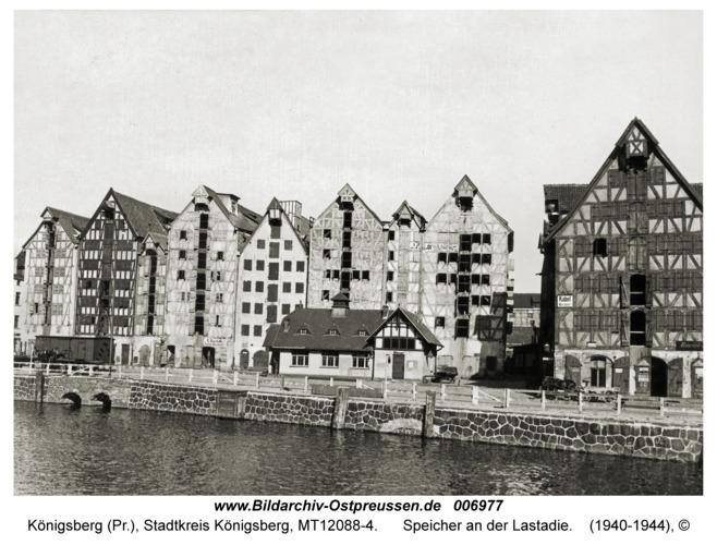 Königsberg, Speicher an der Lastadie