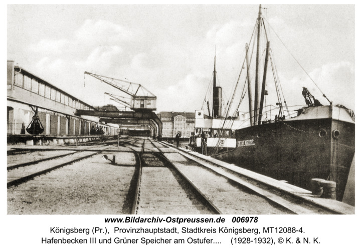 Königsberg, Hafen und Grüner Speicher