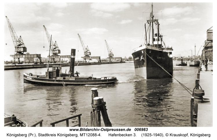 Königsberg, Hafenbecken 3