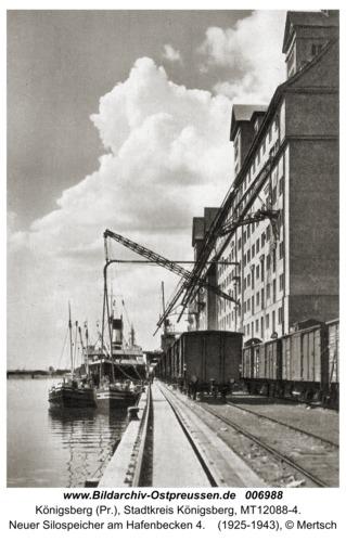 Königsberg, Neuer Silospeicher am Hafenbecken 4