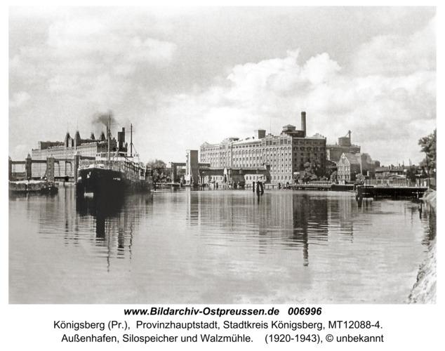 Königsberg, Außenhafen, Silospeicher und Walzmühle