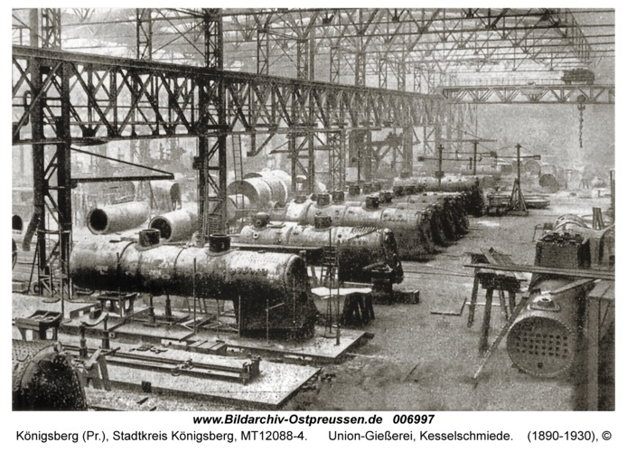 Königsberg, Union-Gießerei, Kesselschmiede